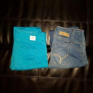 (2) ymi pants